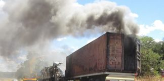 TWENTY passengers were burnt beyond recognition while 41 were critically injured in a horrific accident that happened when a South Africa-bound Proliner Bus sideswiped with a haulage truck and caught fire in Chirumanzu.