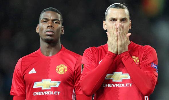 Paul Pogba and Zlatan Ibrahimovic at Man United