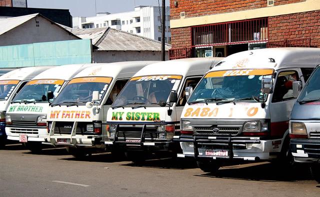 Public transporters in Bulawayo
