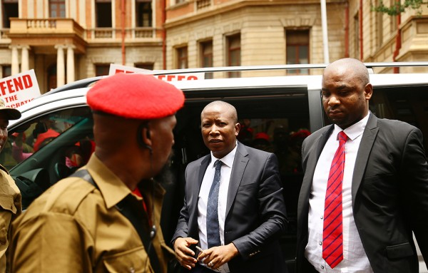 Economic Freedom Fighters leader Julius Malema will appear Newcastle Magistrate Court on Tuesday for allegedly inciting and instigating the EFF to trespass and to illegally occupy any vacant land. Photo: Sthembiso Zulu