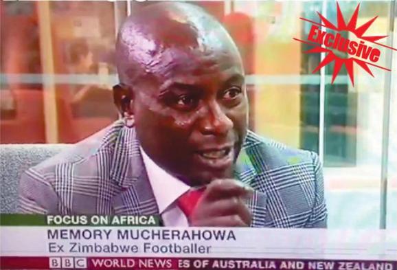 Former Dynamos captain Memory Mucherahowa during a BBC interview