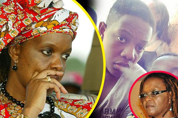 Grace Mugabe and her son Chatunga (inset)