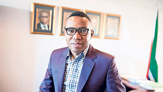 Former South African Deputy Minister of Higher Education and Training Mduduzi Manana