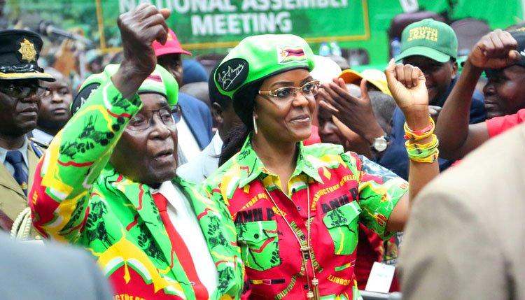 President Robert Mugabe and wife Grace Mugabe