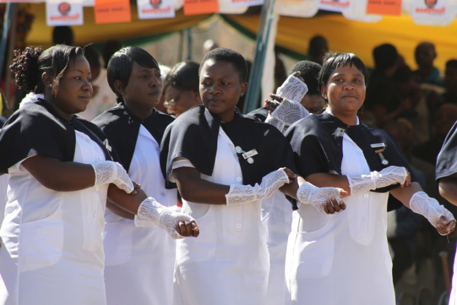 File picture of nurses in Zimbabwe