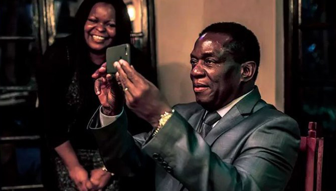 President Emmerson Mnangagwa (right) seen here with lawyer Petina Gappah