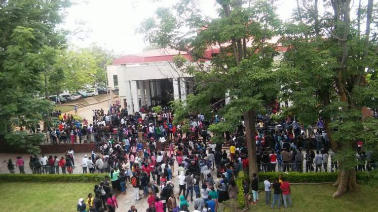 File picture of students at the University of Zimbabwe during a protest