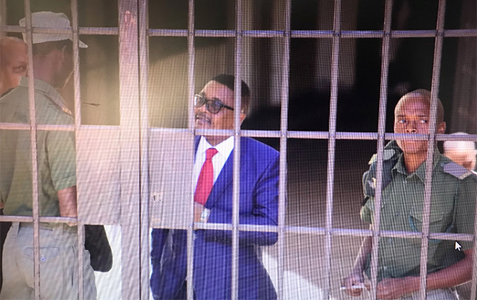 Former Foreign Affairs Minister Walter Mzembi at the Harare Magistrates Court