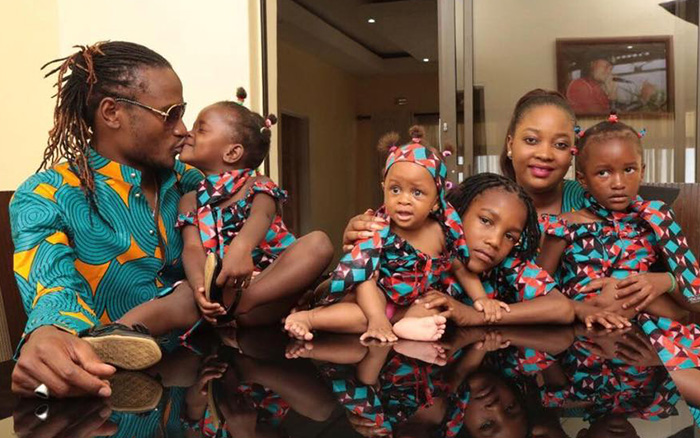Jah Prayzah with wife and children
