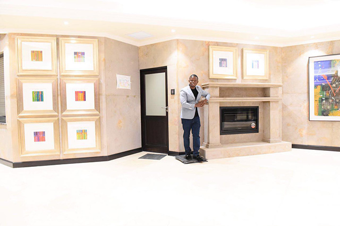 """Multi-millionaire preacher and businessman Shepherd Bushiri chose his birthday on Tuesday to launch a new R1,3 billion ($111m) hotel called """"SB Hotels: Sparkling Waters and Spa"""" in Rustenburg, South Africa. The hotel comes complete with an artificial beach among other features."""