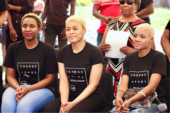 """Beverly Angel, the wife of flamboyant preacher/businessman Uebert Angel, is in Harare this week for a scheduled """"intimacy conference"""". On Wednesday and Thursday she donated 4000 kgs of maize meal, flour, potatoes and rice to vulnerable members of the community in the capital."""