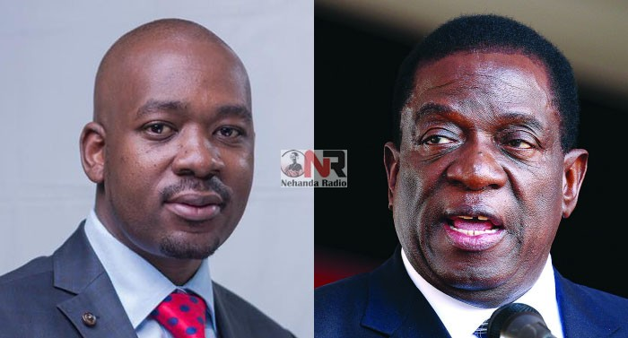 Opposition leader Nelson Chamisa and President Emmerson Mnangagwa