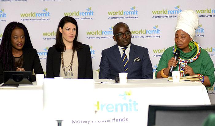 Tidi Kwidini (ZAA Group Publicist), Alix Murphy (Director of Mobile partnerships, WorldRemit), Conrad Mwanza (ZAA Chief Executive) and Dorcas Gwata (ZAA International Advisory Board).