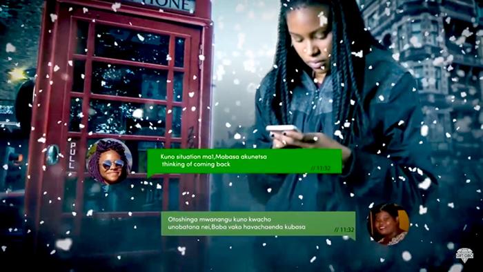 Screen grab from Winky D's Dzika Ngirozi video
