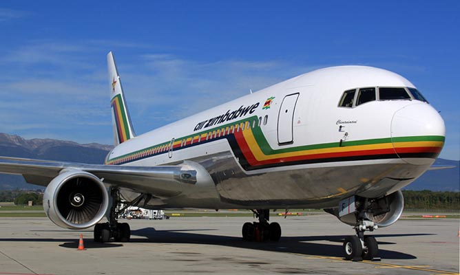 File picture of an Air Zimbabwe plane