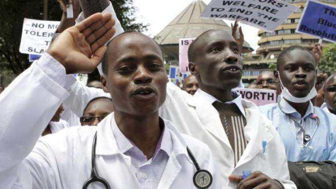 File picture of doctors on strike