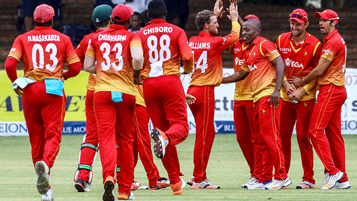 File picture of Zimbabwe cricket players