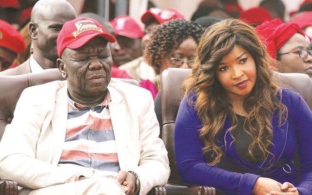 The late Morgan Tsvangirai seen here with his wife Elizabeth