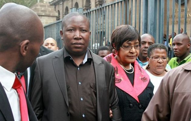 Julius Malema and Winnie Madikizela-Mandela. (File photo Image by: Puxley Makgato)