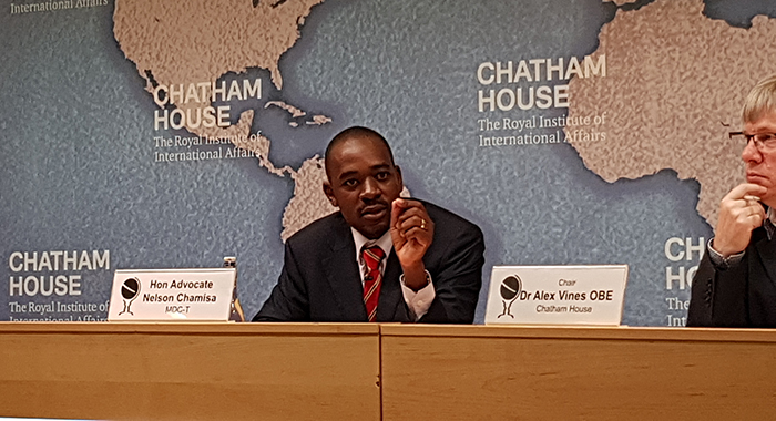 Nelson Chamisa at Chatham House