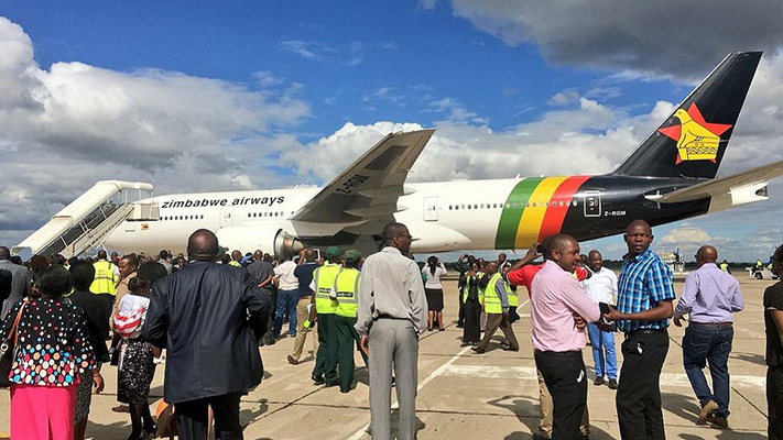 Local media reports had linked Zimbabwe Airways and the new planes to former president Robert Mugabe's family (Photo by @HaruMutasa)