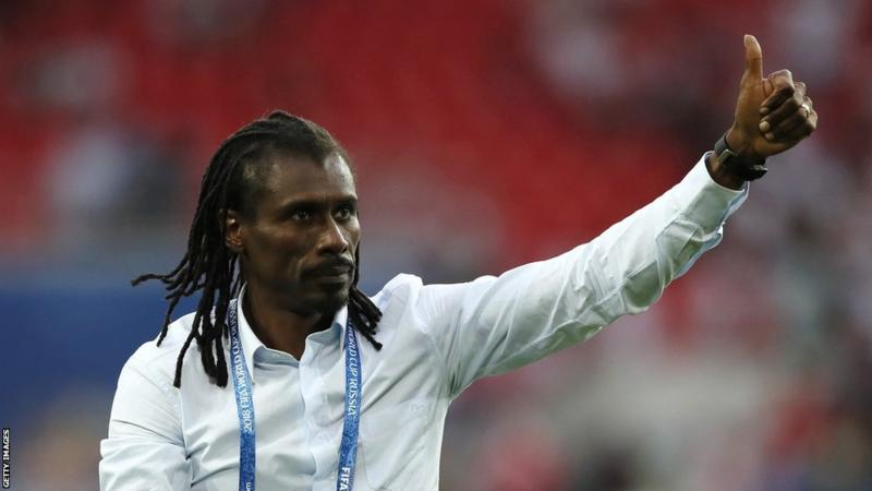 Aliou Cisse of Senegal is the only black manager at the Russia 2018 World Cup