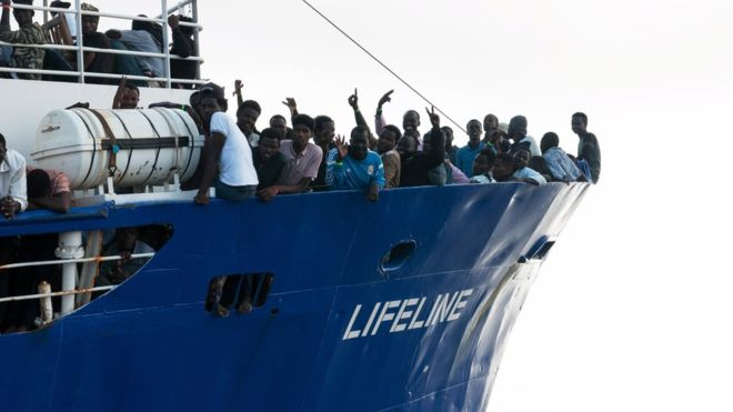 The two ships work for the German NGO Mission Lifeline
