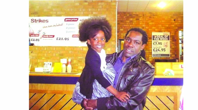 Percy Musa with his daughter Lynn who does backing vocals in studio