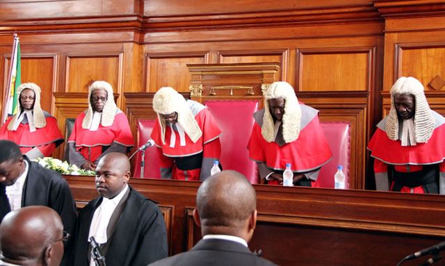 File picture of judges in Zimbabwe