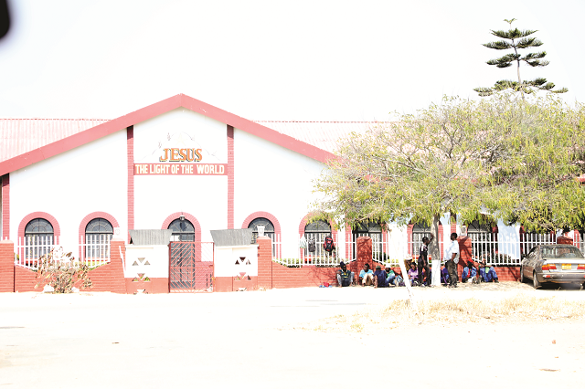 The Apostolic Faith Mission Church premises in Bulawayo where thousands of congregants were evicted by the Deputy Sheriff yesterday