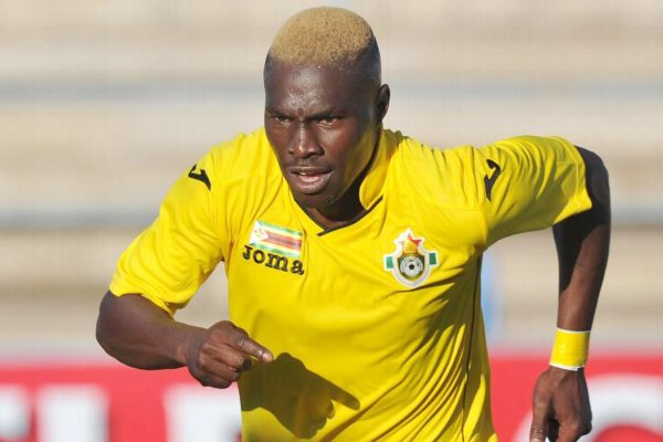 Obadiah Tarumbwa seen here playing for the national team (Picture by Standard)