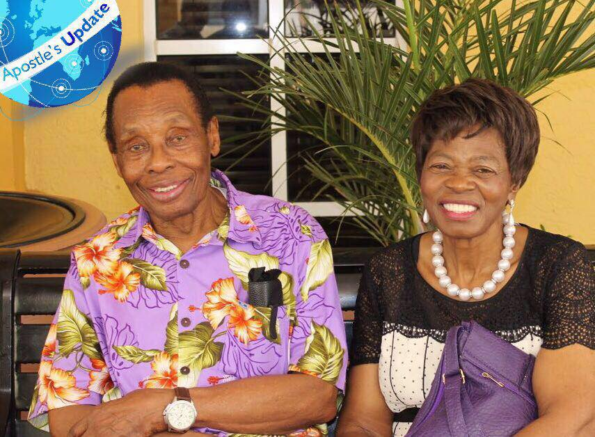Apostle Ezekiel Guti seen here with his wife