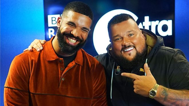 Charlie, on the right, with Drake