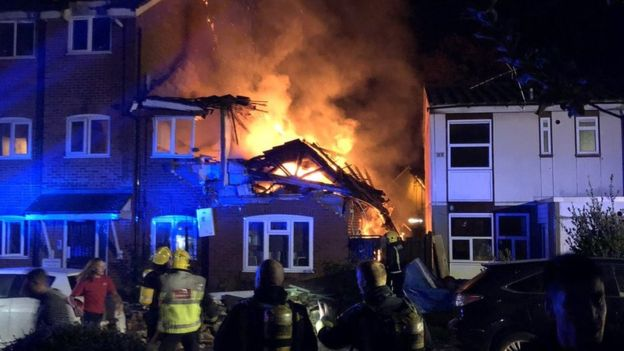 Those rescued were on the first floor of the property in Fulbeck Way, Harrow