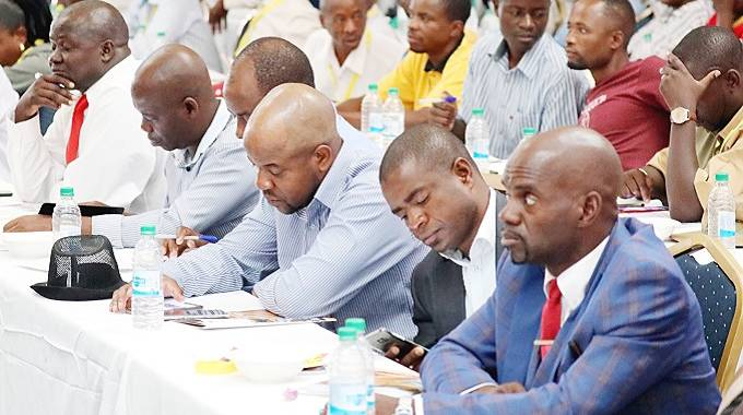 Delegates yesterday follow proceedings during a Local Government Investiment Conference in Bulawayo.