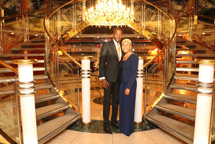 Prophet Uebert and Beverly Angel at the launch of the new bank, Brits Money
