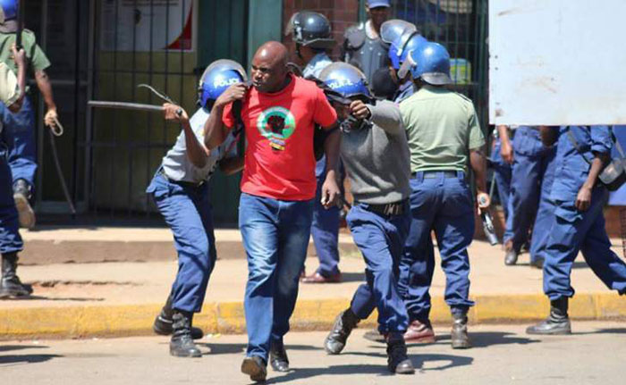 ZCTU leaders arrested by riot police