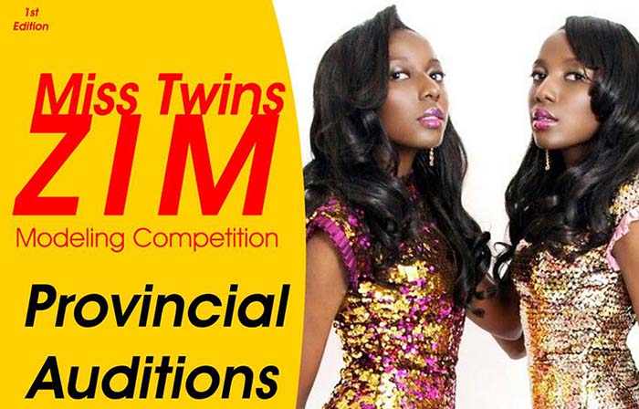 "Poster for Miss Twins Zimbabwe ""Provincial Auditions"""