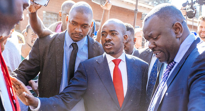 Opposition MDC Alliance leader Nelson Chamisa