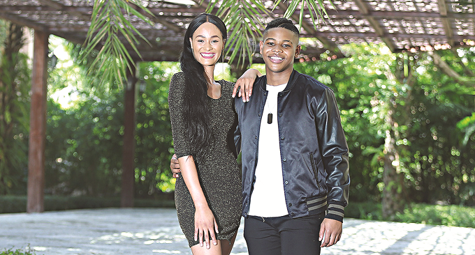 Donel Mangena and Belinda Potts (picture ZimLive)