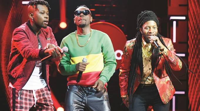 Winky D (right) on the Coke Studio