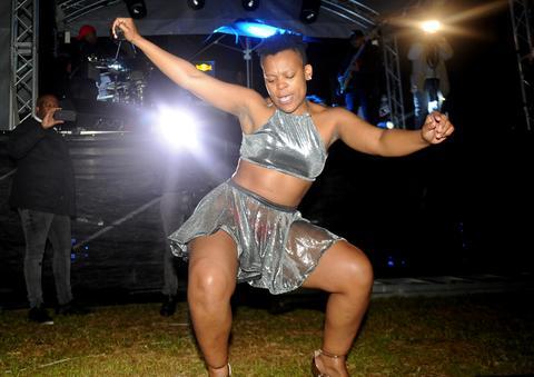 Zodwa Wabantu performing at DJ Tiras Birthday tour at Ostrich farm Cape Town. Picture: Ayanda Ndamane / African News Agency / ANA