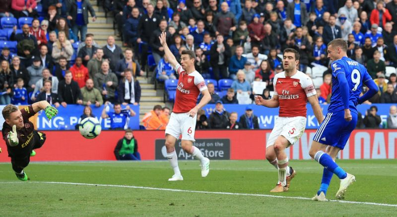Vardy double deals fresh blow to Arsenal's Champions ...