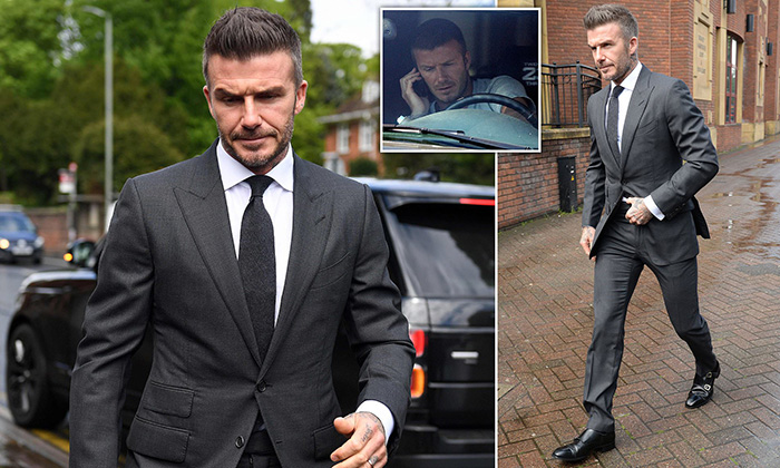 David Beckham is BANNED from driving for six months