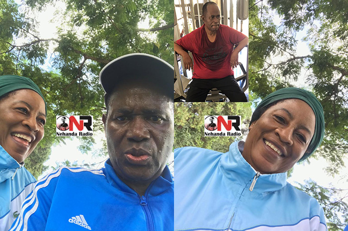 Running Buddies: Gideon Gono and wife