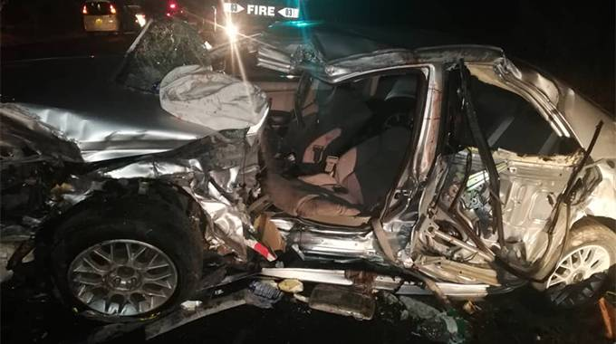 An image doing the rounds on social media shows the wreckage of the purported vehicle Vimbai Tsvangirai was travelling in.