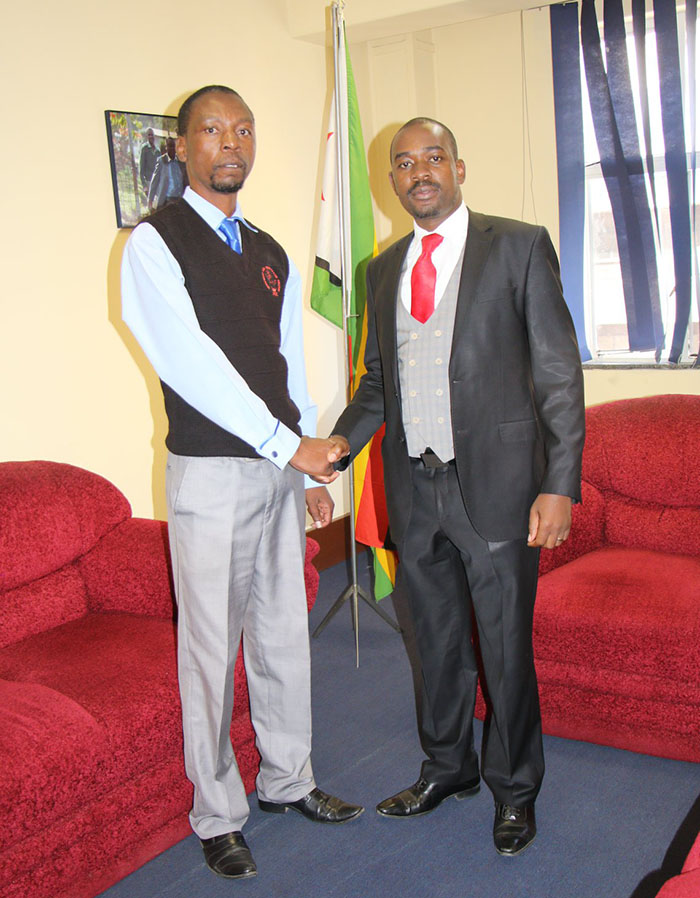 Luke Tamborinyoka and Nelson Chamisa