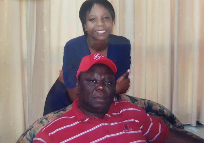 Vimbai Tsvangirai Java with her late father Morgan Tsvangirai