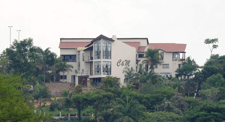 The sprawling Harare mansion owned by Chiwenga and his wife Mary. The C&M on the mansion stands for Constantino and Mary