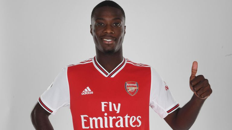 arsenal confirm 72m club record signing of nicolas pepe. Black Bedroom Furniture Sets. Home Design Ideas